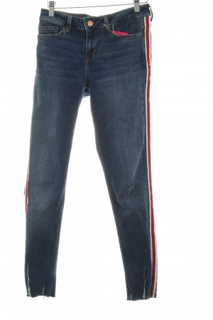 Zara Stretch Jeans Streifenmuster Street-Fashion-Look