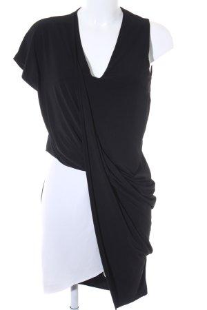 Zara Stretchkleid schwarz-weiß Elegant