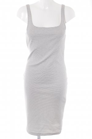 Zara Stretch jurk wit-donkerblauw gestreept patroon casual uitstraling