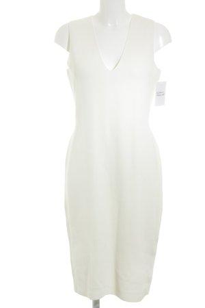 Zara Stretchkleid wollweiß minimalistischer Stil