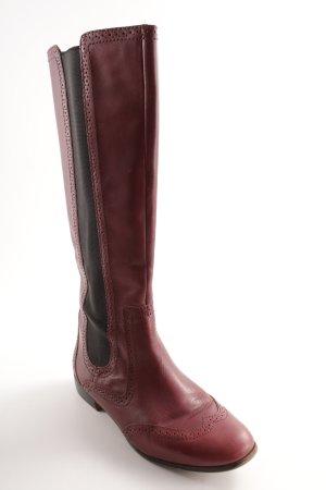 Zara Bottes stretch brun rouge-bordeau style décontracté