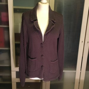 Zara Blazer in maglia grigio scuro Cotone