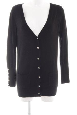 Zara Knitted Cardigan black business style