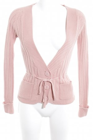 Zara Strick Cardigan altrosa Casual-Look