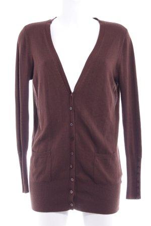 Zara Cardigan in maglia marrone stile casual