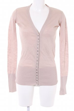 Zara Strick Cardigan creme Casual-Look
