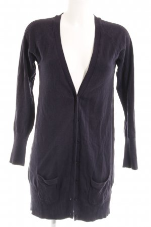 Zara Strick Cardigan dunkelblau Casual-Look