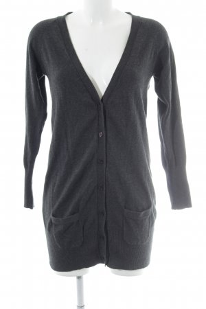 Zara Strick Cardigan grau Casual-Look