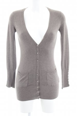 Zara Strick Cardigan hellbraun Casual-Look