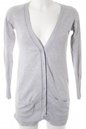 Zara Strick Cardigan hellgrau Casual-Look
