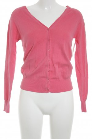 Zara Strick Cardigan magenta Business-Look