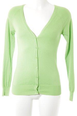 Zara Cardigan tricotés vert fluo style décontracté