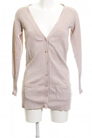 Zara Strick Cardigan nude Casual-Look