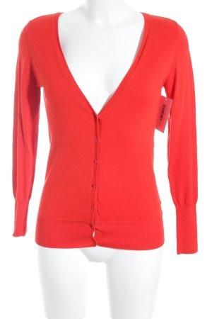 Zara Strick Cardigan rot schlichter Stil