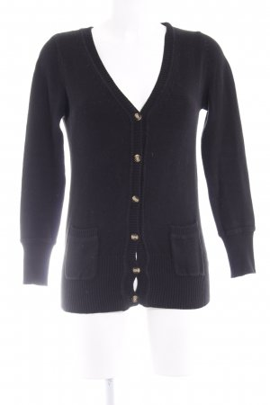 Zara Strick Cardigan schwarz Casual-Look