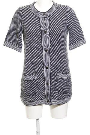Zara Strick Cardigan schwarz-weiß Streifenmuster Casual-Look