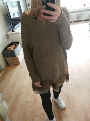 Zara Jersey de punto color bronce