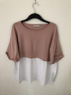 Zara Strick Shirt mit Blusen Detail