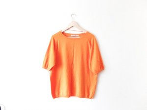 Zara Strick T Shirt Gr. M 40 orange oversize trend
