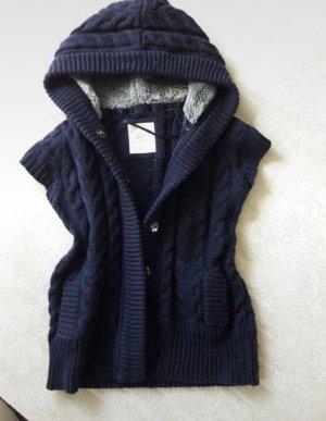Zara Smanicato lavorato a maglia blu-blu scuro