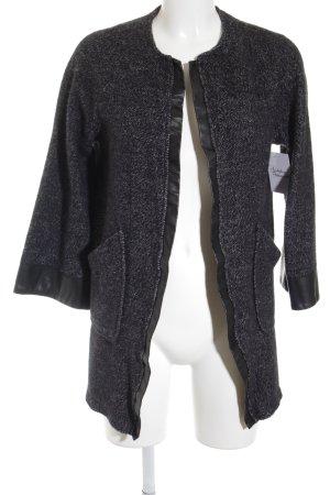 Zara Blazer en maille tricotée gris-noir style décontracté