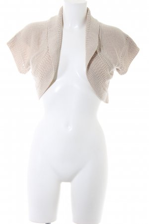 Zara Torera de punto beige claro Patrón de tejido look casual