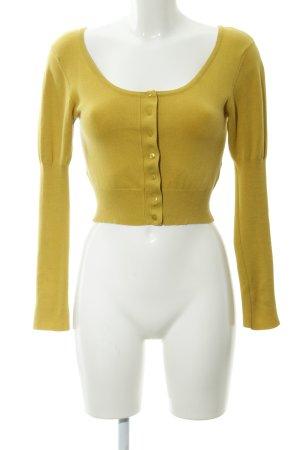 Zara Boléro en tricot jaune citron vert style décontracté