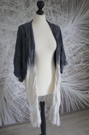 Zara Blazer argenté-blanc