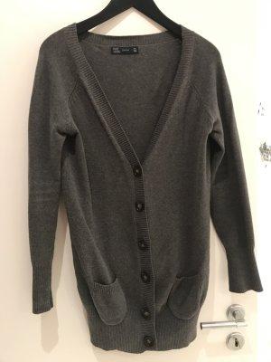 Zara Giacca in maglia grigio scuro