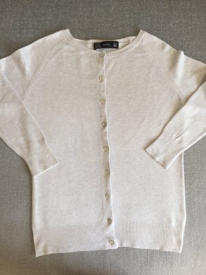 Zara Veste en tricot beige clair