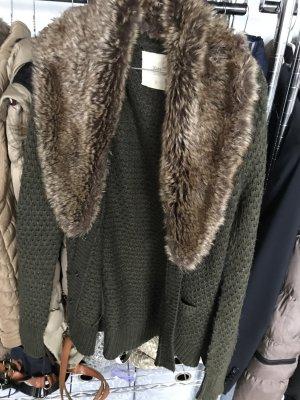 Zara Grof gebreid vest khaki
