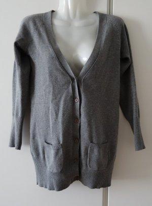 Zara Veste en tricot gris foncé-gris coton