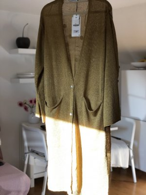 Zara Knitted Cardigan sand brown-gold-colored