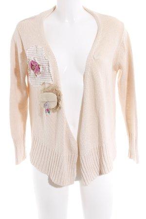 Zara Veste en tricot crème style décontracté