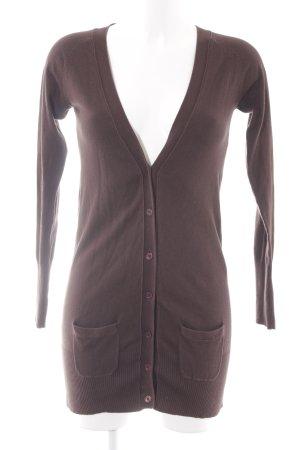 Zara Rebeca marrón oscuro estilo clásico
