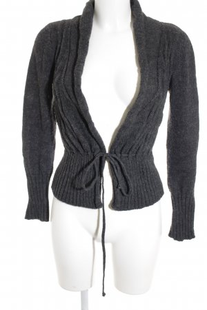 Zara Strickjacke dunkelgrau Casual-Look