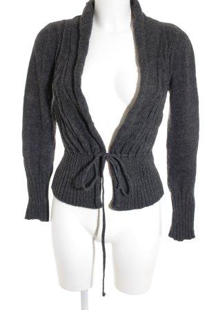 Zara Veste en tricot gris foncé style décontracté