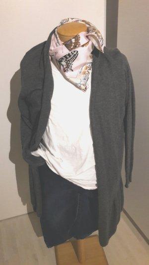 Zara Veste en tricot gris foncé-gris anthracite tissu mixte