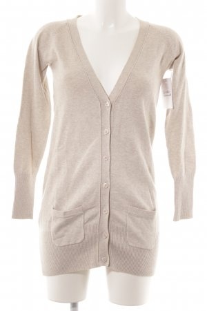 Zara Strickjacke hellbeige Casual-Look