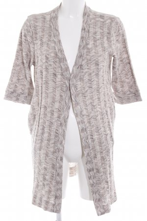 Zara Rebeca gris claro-beige diseño de espiga look casual