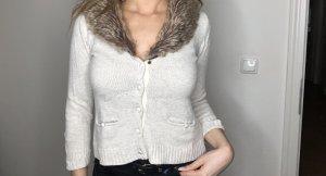 Zara Giacca corta beige-bianco sporco