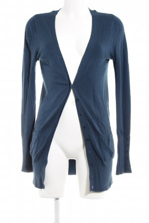 Zara Strickjacke petrol Casual-Look