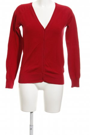 Zara Strickjacke rot Casual-Look