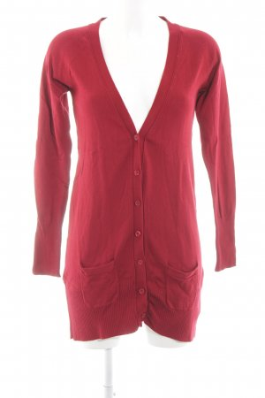 Zara Strickjacke rot-pink Casual-Look