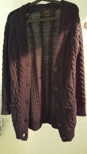 Zara Veste en tricot bleu foncé
