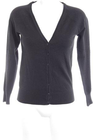 Zara Veste en tricot noir style décontracté