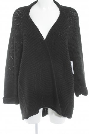 Zara Giacca in maglia nero stile casual