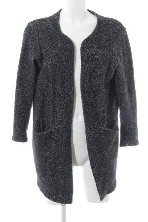 Zara Strickjacke schwarz-grau meliert Casual-Look
