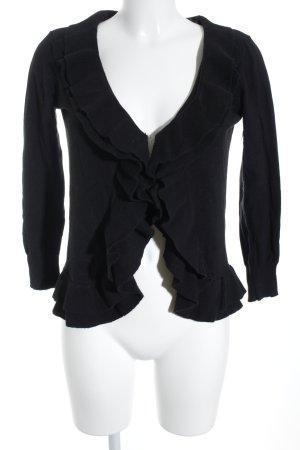 Zara Veste en tricot noir style simple