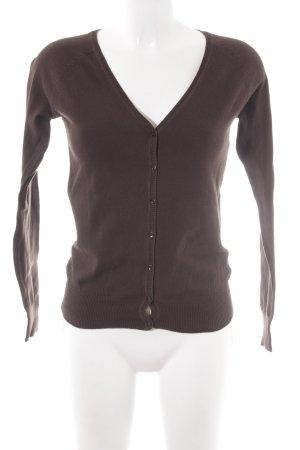 Zara Strickjacke schwarzbraun Casual-Look